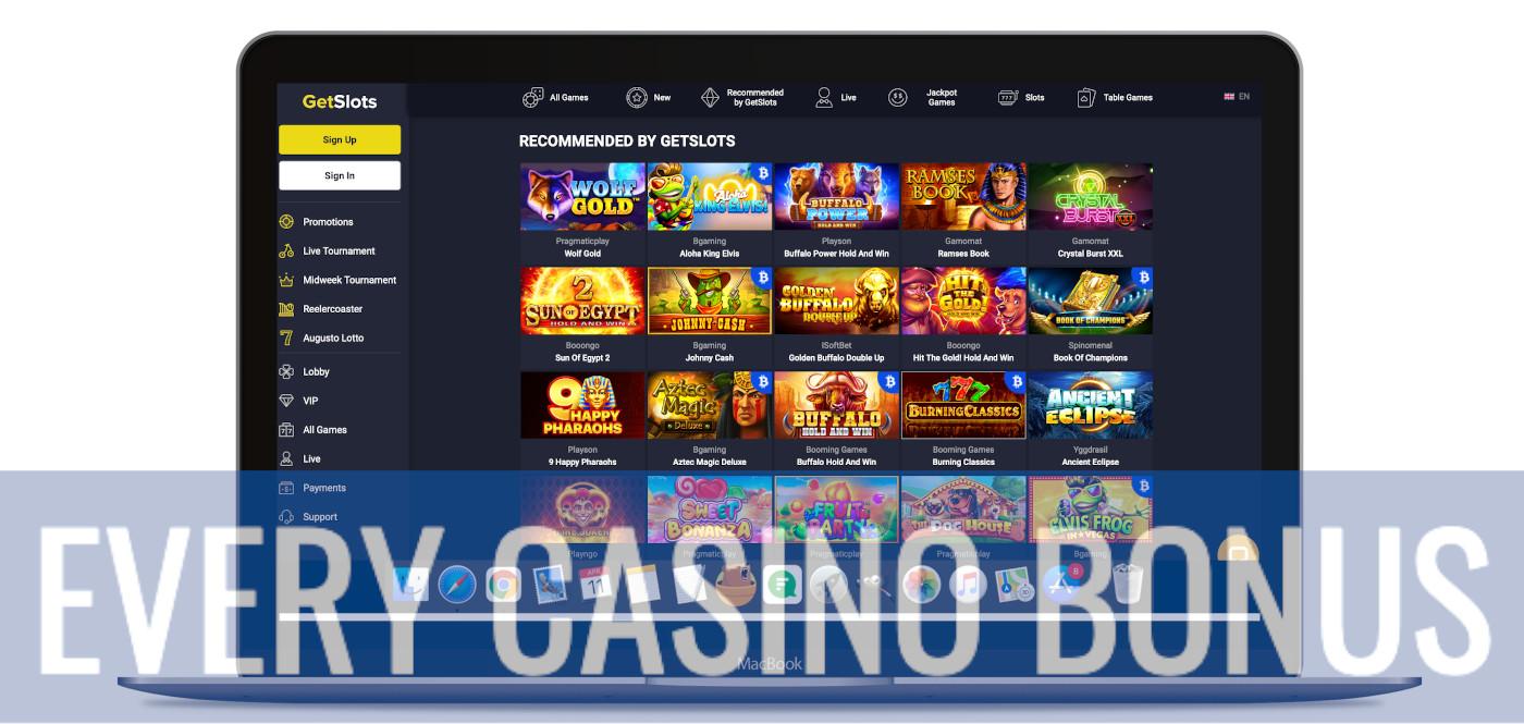 GetSlots games lobby