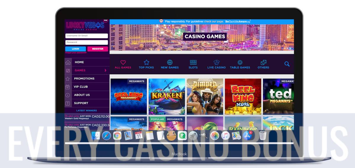 Lucky Vegas website