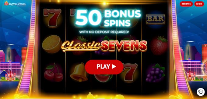 50 free spins at royal vegas