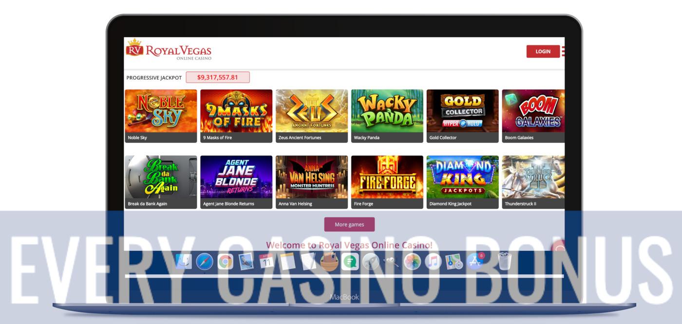 Royal Vegas website