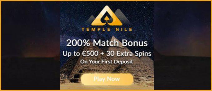 temple nile casino bonus